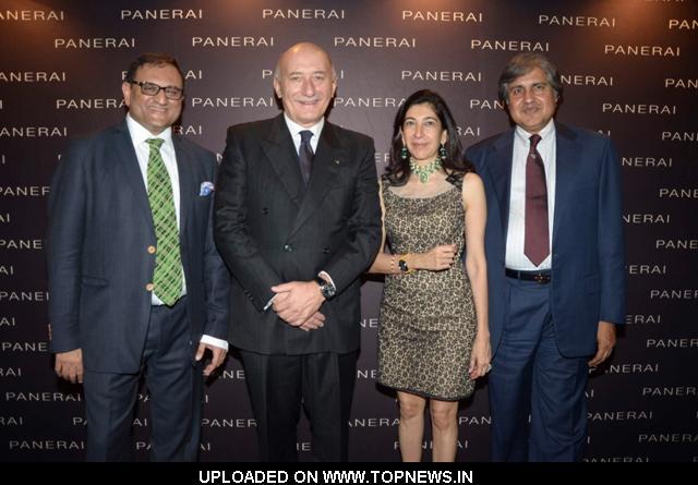 Chetan Mehta, Angelo Bonati CEO Officine Panerai, Devyanshi Mehta and Anoop Mehta