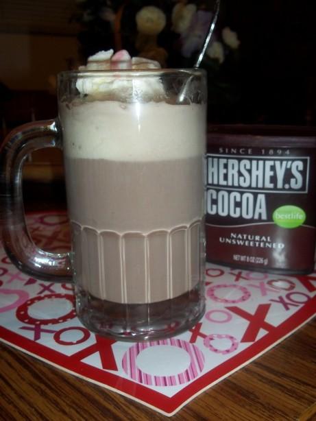 Minty Hot Cocoa Float