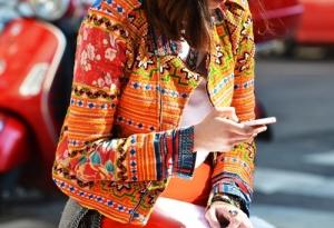 Street Style Printed Orange Jacket