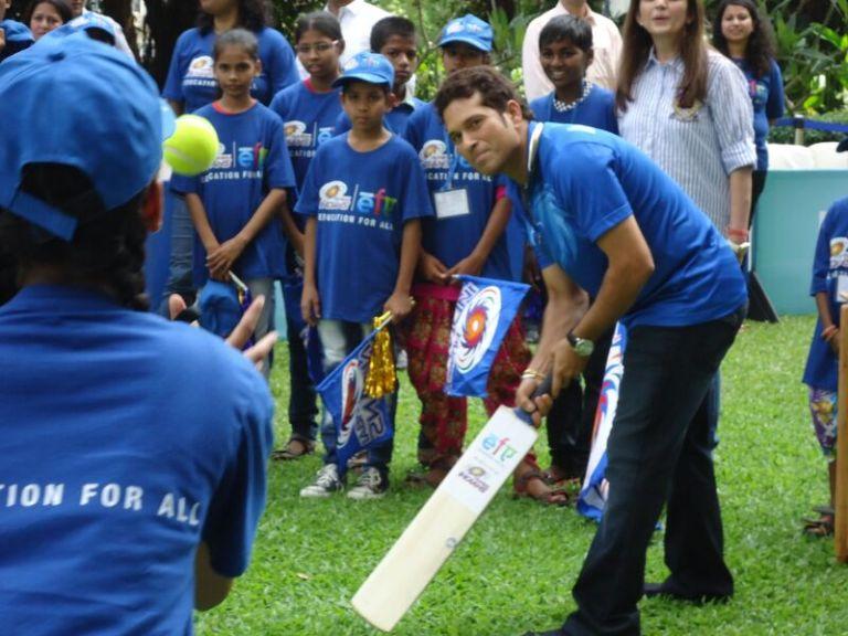 Sachin Playing with Kids