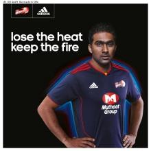 Mahela Jayawardene-Captain-Delhi Daredevils wearing adidas ClimaCool+ jersey