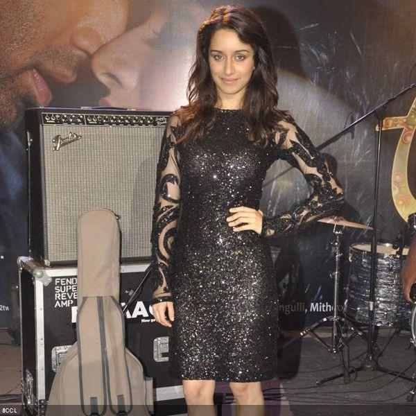 Shraddha Kapoor In Siddharth Tytler Black Sequin Dress