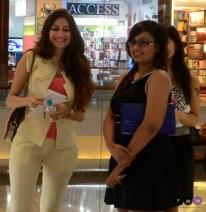 Shubhika Sharma with Blogger Dhruvi Shah