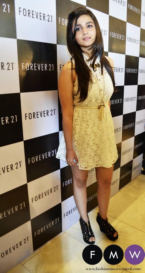 Alia Bhatt at Forever 21 Mumbai Launch