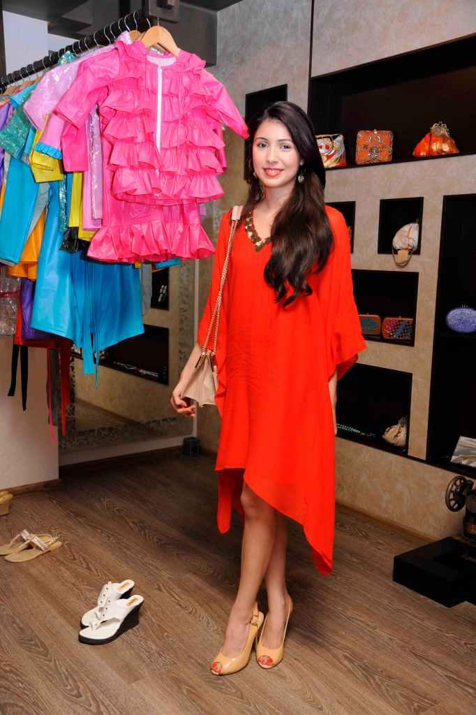 Camelia Vajifdar wearing an outfit by Sonya Vajifdar