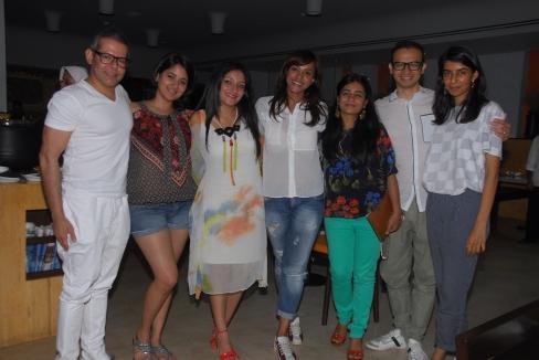 L-R: Vikram Raizada, Narayani Shastri, Anjali Kirpalani, Manasi Scott, Nisha Raizada, Jaspreet Walia, Ekta Rajani