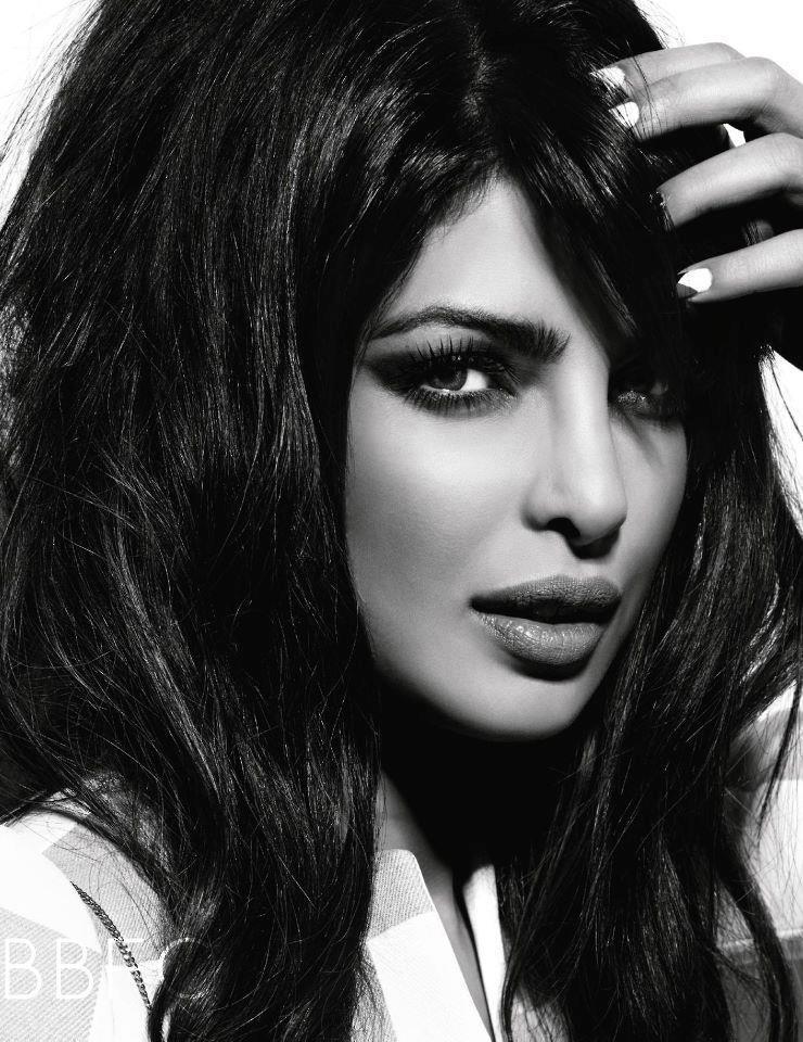 Priyanka Chopra Smokey Eyes Look-photo shoot Vogue India March 2013