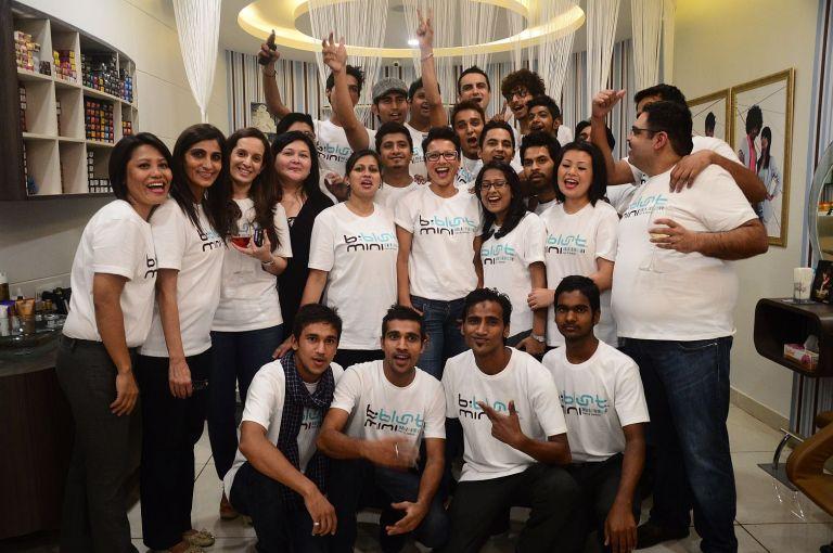 Adhuna Akhtar with the b blunt team