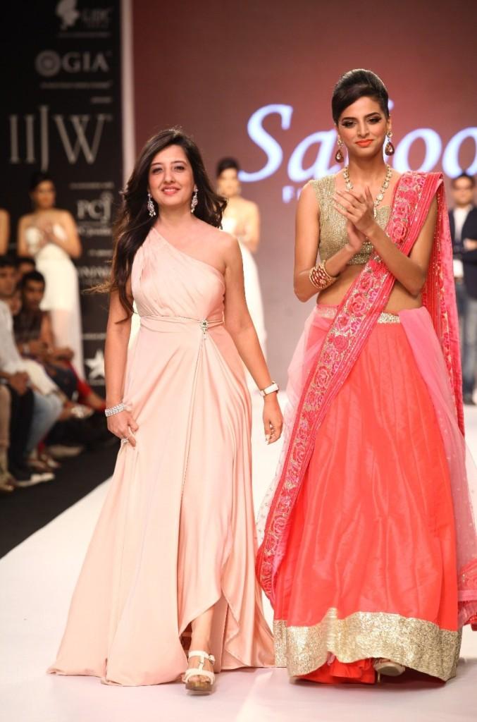 IIJW 2013 - Saboo Fine Jewels  Dress Designer Amy Billimoria