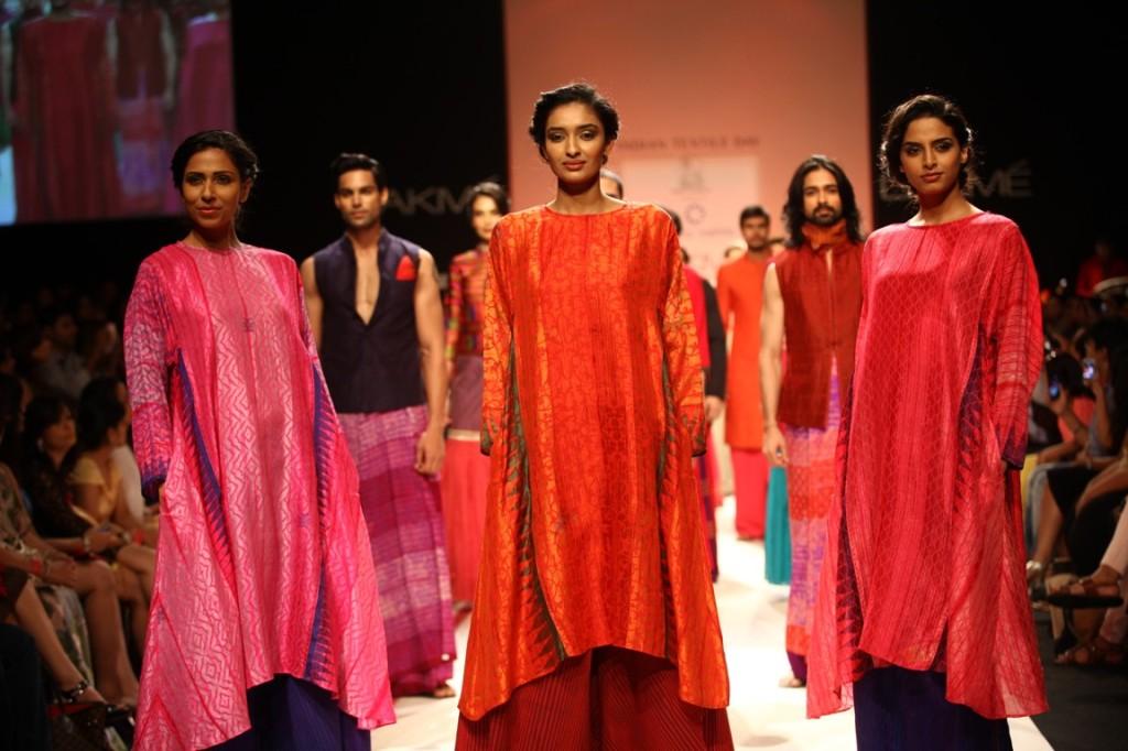 Models Walking The Ramp For Krishna Mehta