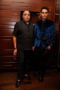 Tarun Tahiliani with Uday Sandhu showcasing his collection at the Tarun Tahiliani Couture Exposition, 2013 in Mumbai