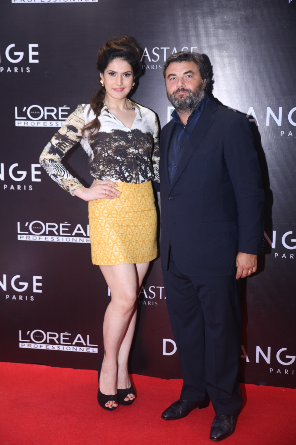 Benjamin Dessange with Zarine Khan