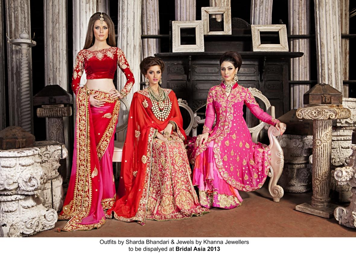 Outfits by Sharda Bhandari & jewelery by Khanna Jewllers