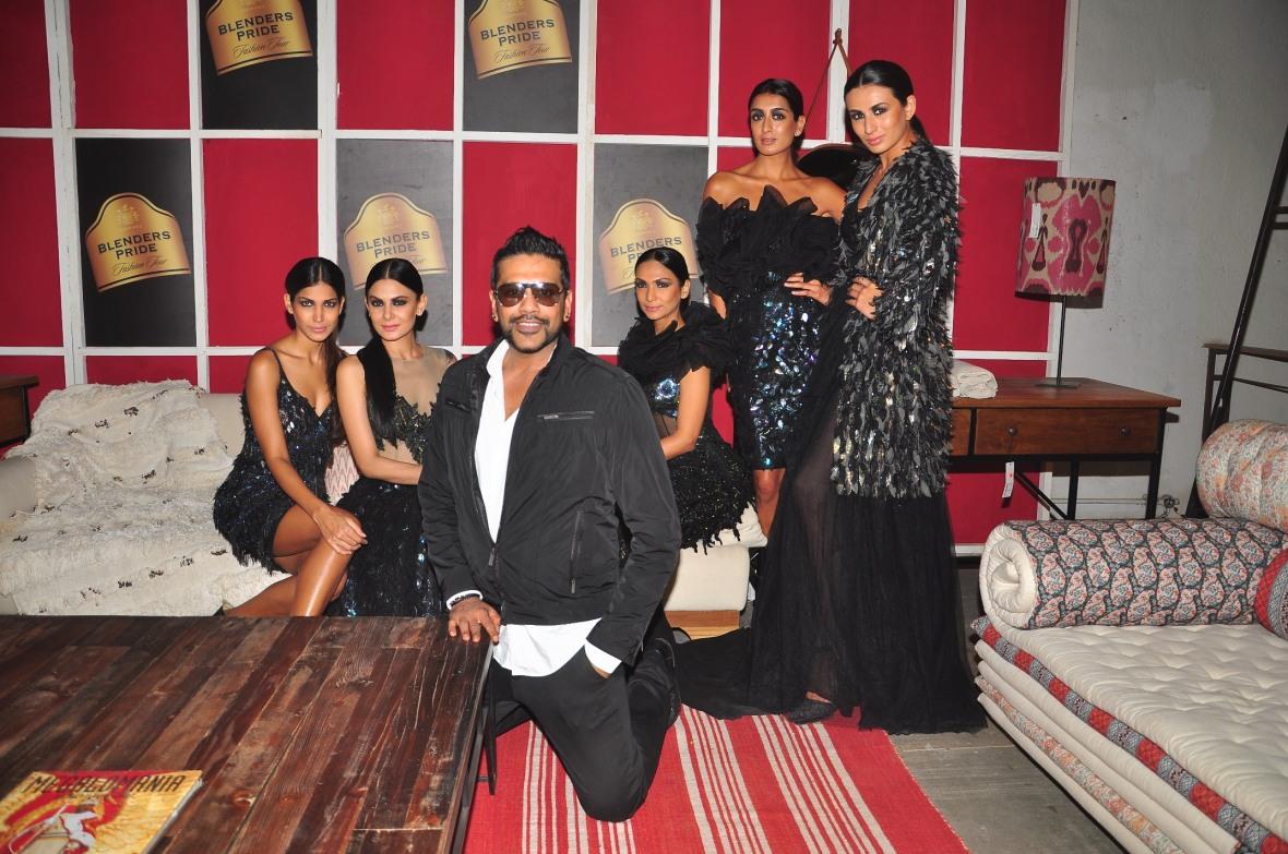 Seen at Blender's Pride 'House of Style' - Rocky S with Binal Trivedi, Pia Trivedi, Mashoom Singha, Shamita Singha & Aanchal Kumar