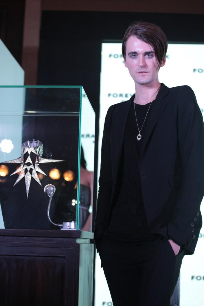 British Designer Gareth Pugh unveiling his First Jewellery piece designed for Forevermark