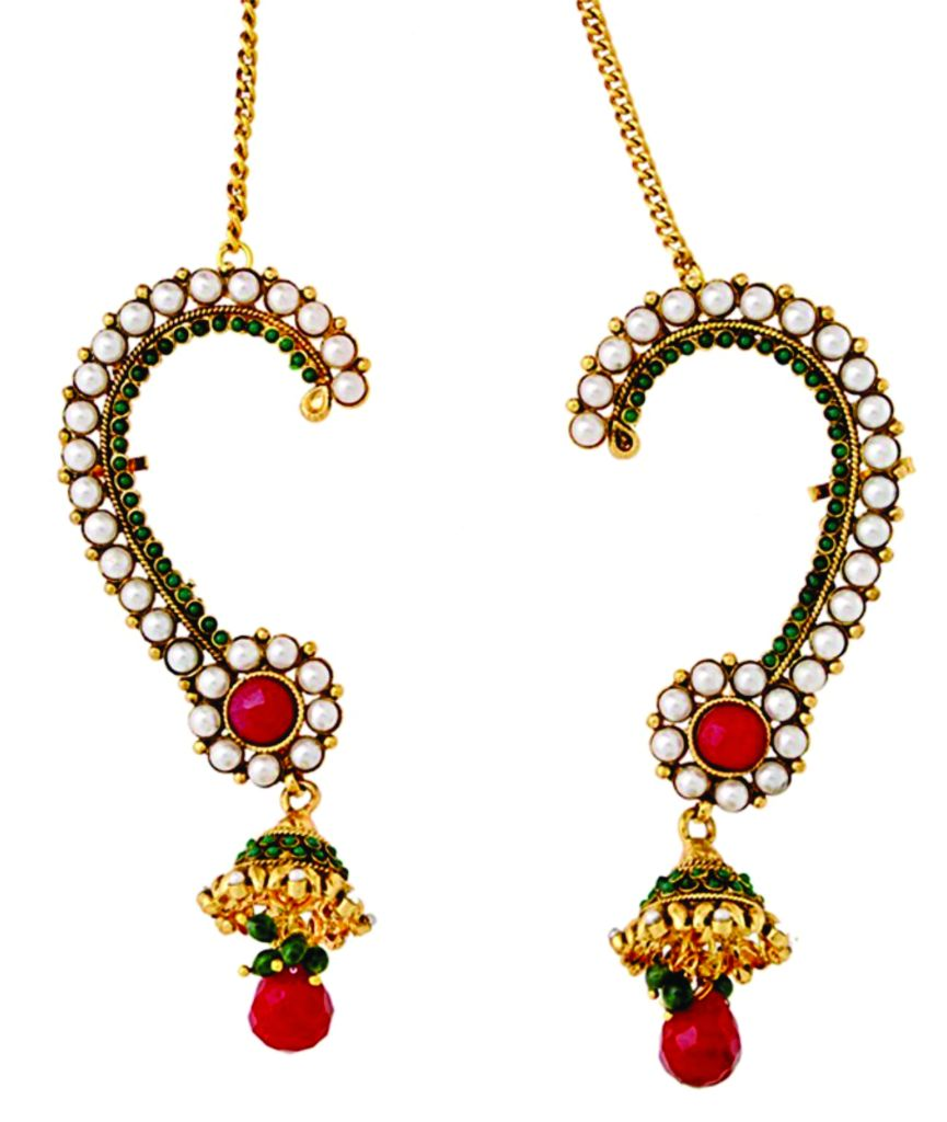 Gold plated polki Jhumka Earrings- Rs 850