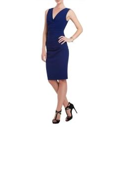 BCBG MAX AZRIA Alysse Blue Depth Dress: Click Here