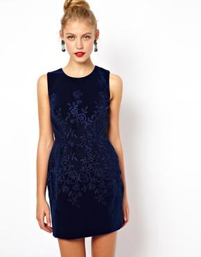 ASOS Embroidered Velvet Prom Dress: Click Here