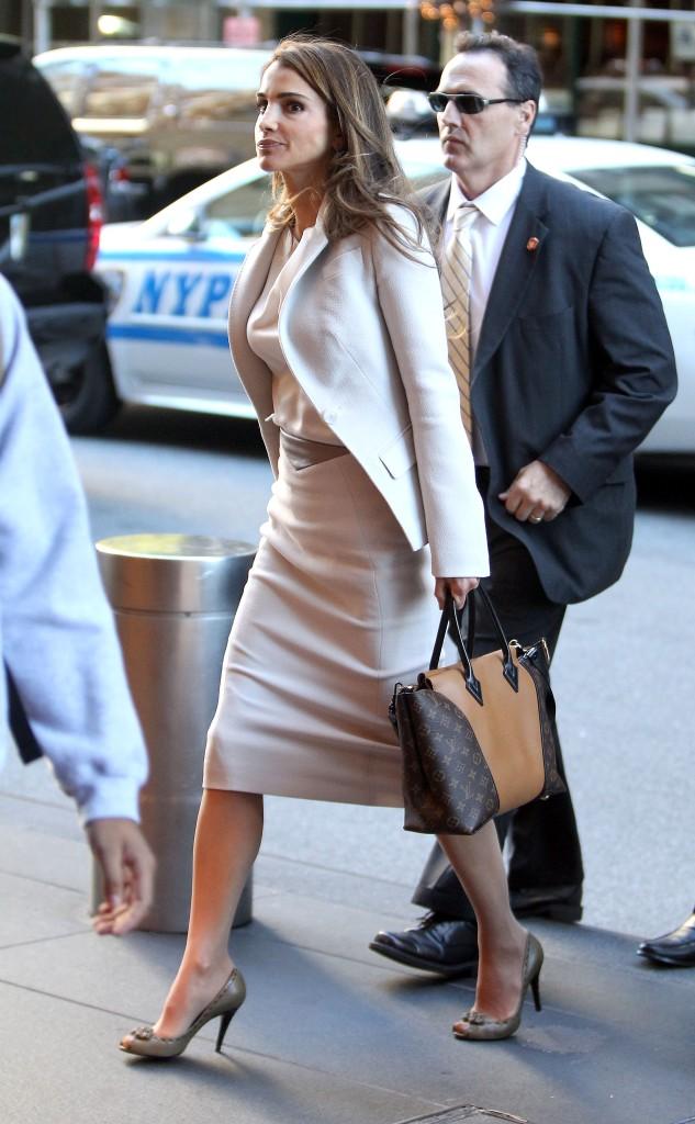 Queen Rania Of Jordan Sighting - NYC
