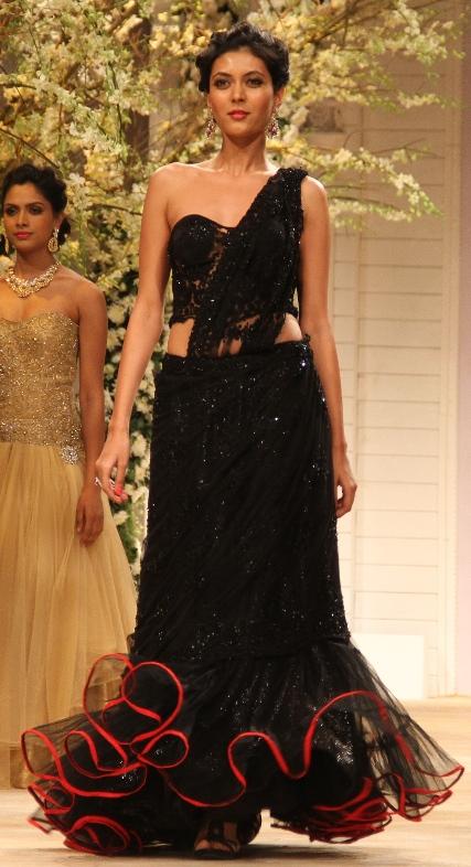 Seen at Aamby Valley India Bridal Fashion Week - Model walking for Jyotsna Tiwari (3)
