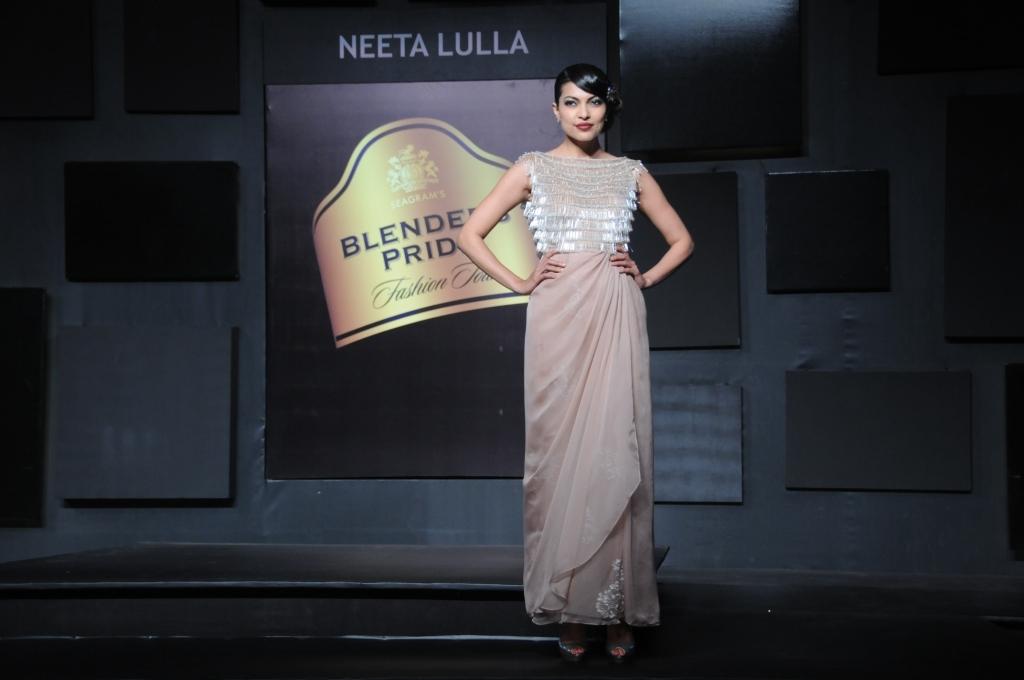 Seen at Blender's Pride Fashion Tour Mumbai - Day 2 - Model in a Neeta Lulla creation (3)