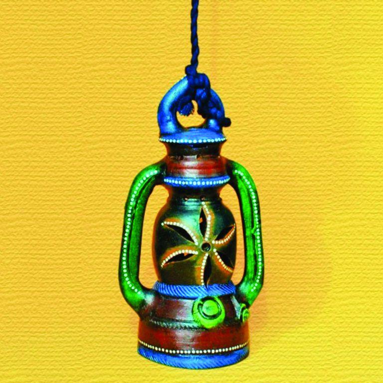 Terracotta Hanging Lantern - 10 Inch - Villcart  Rs. 820