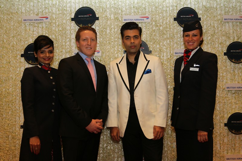 Chris Fordyce, Regional Commercial Manager, British Airways, South Asia with Karan Johar