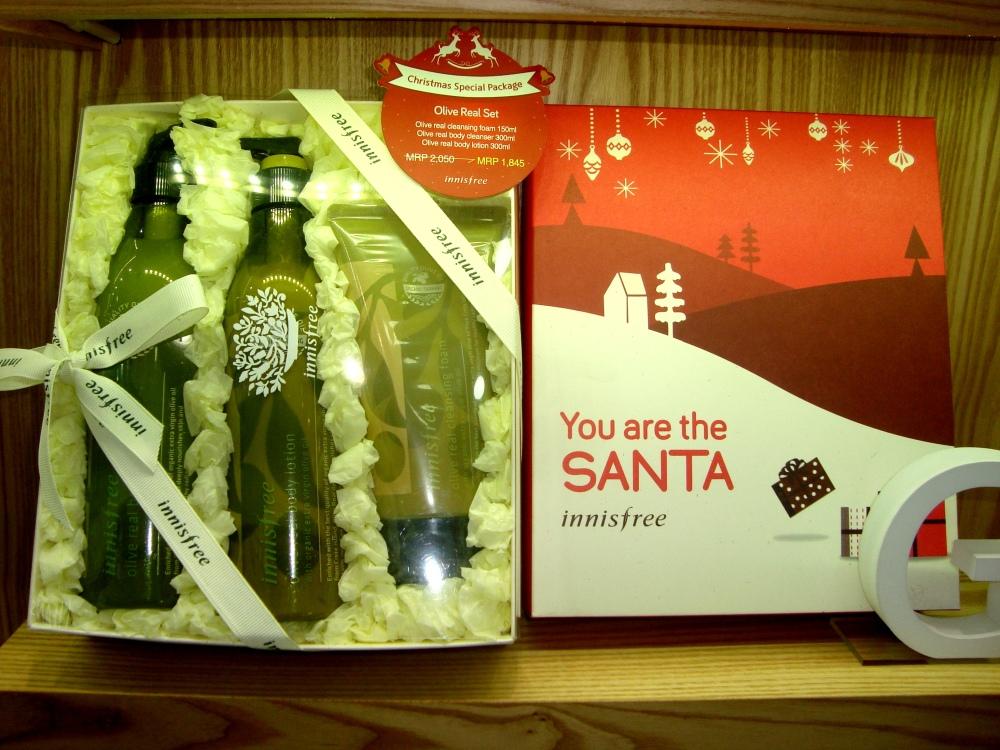 Christmas Gift box olive Set 2