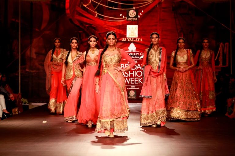 Seen at Aamby Valley India Bridal Fashion Week - Day 5- Models walking for JJ Valaya (3)