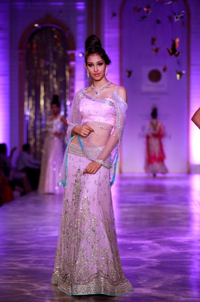 Seen at Aamby Valley India Bridal Fashion Week - Model walking for Neeta Lulla (10)