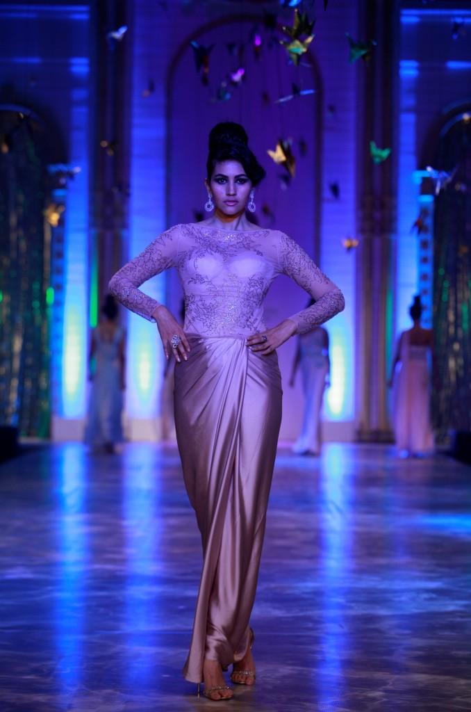 Seen at Aamby Valley India Bridal Fashion Week - Model walking for Neeta Lulla (4)