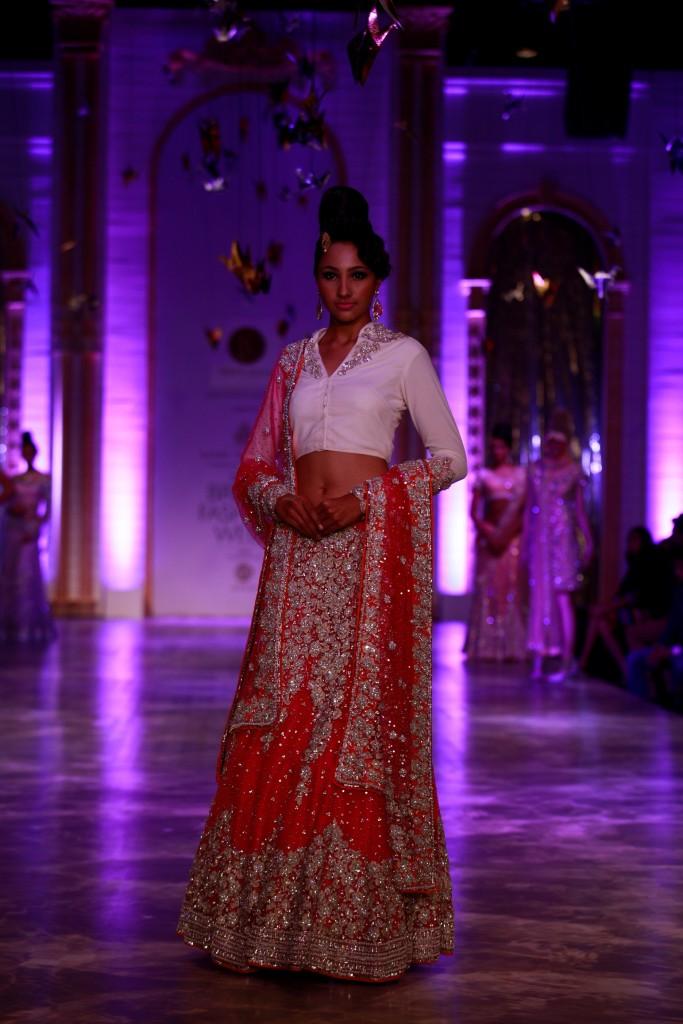 Seen at Aamby Valley India Bridal Fashion Week - Model walking for Neeta Lulla (9)