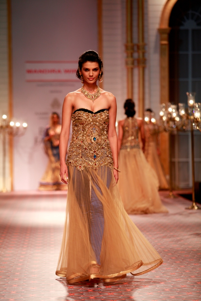 Seen at the Aamby Valley India Bridal Fashion Week - Day 5 -Model in a Mandira Wirk Creation