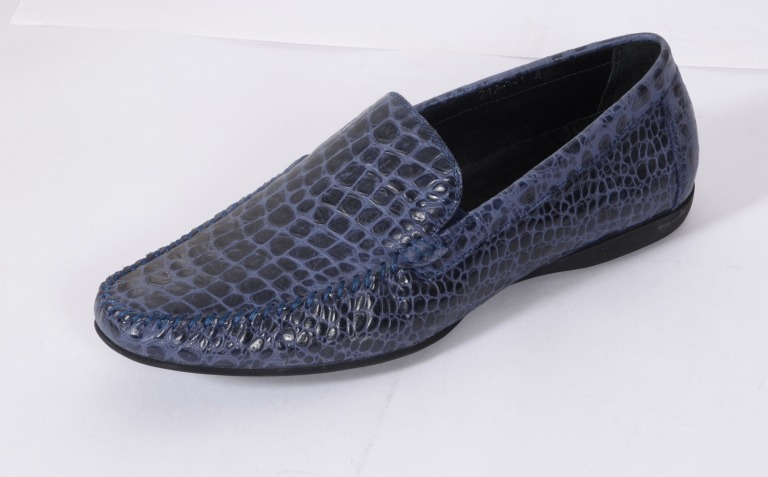 Snake Leather Loafers (Blue) at Egle & Louis Alberti