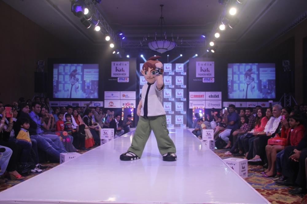 Cartoon Network's super alien Ben10 walks the ramp at India Kids Fashion Week