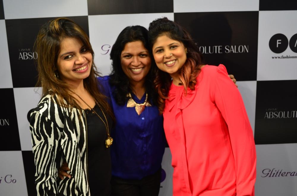 Glitterati Co Founders Nisha RAmani and Shalini Uppoor with Marketing Manager Lakme Anu Singh