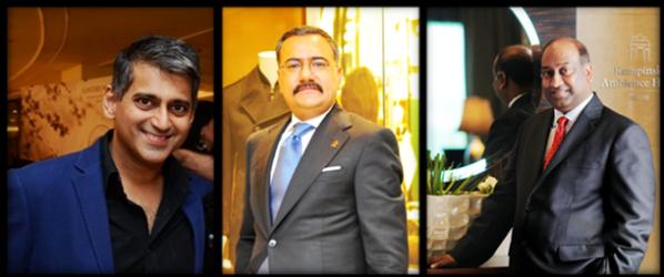 L-R: Sanjay Kapoor, Shailesh Grover, Vella Ramasawmy