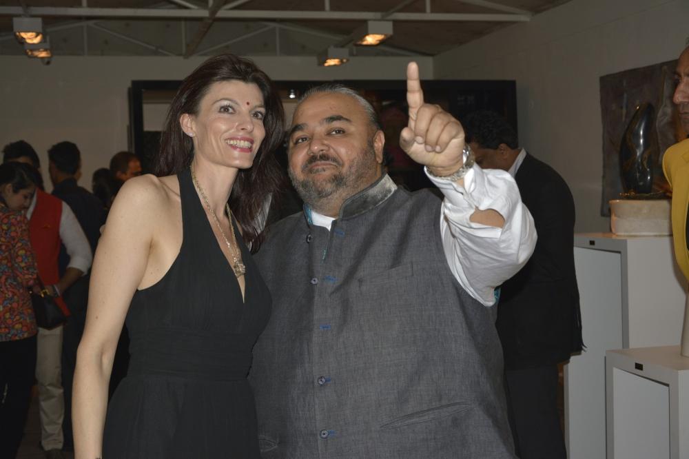 Simona Boochi with JJ Valaya