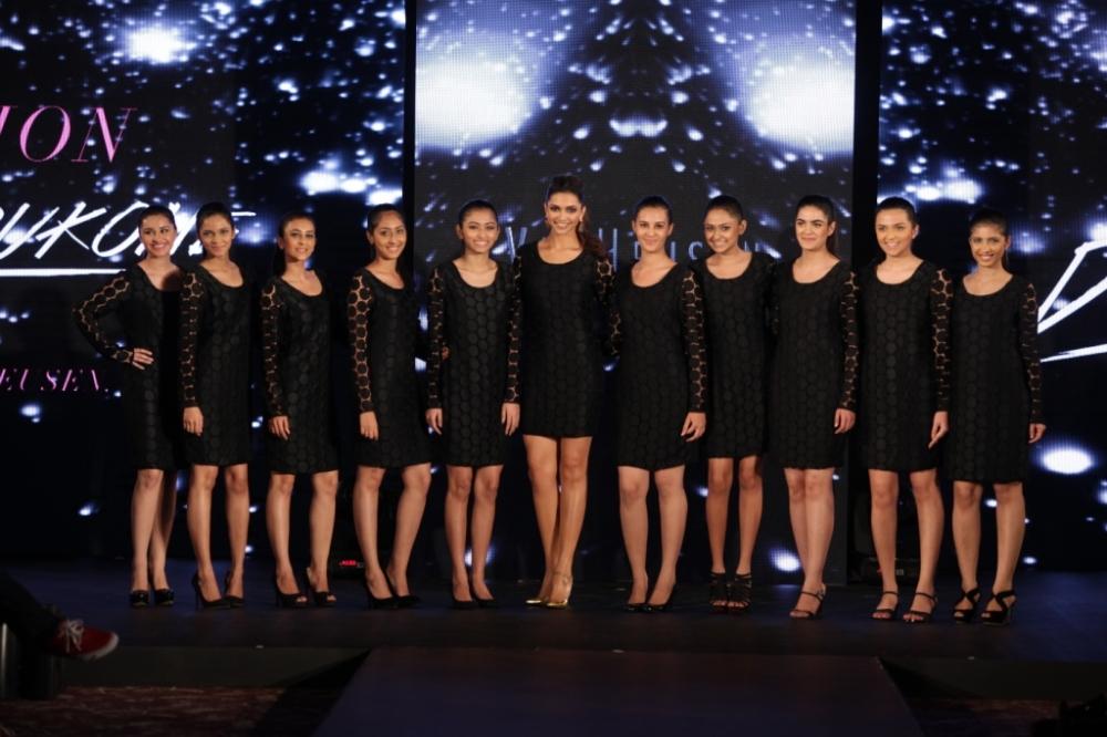 Deepika Padukone with the contest winners