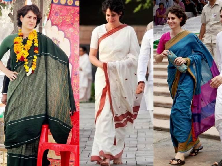 Priyanka Gandhi Handloom Sarees
