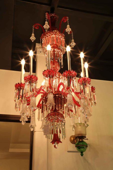 RED BACCARAT CHANDELIER