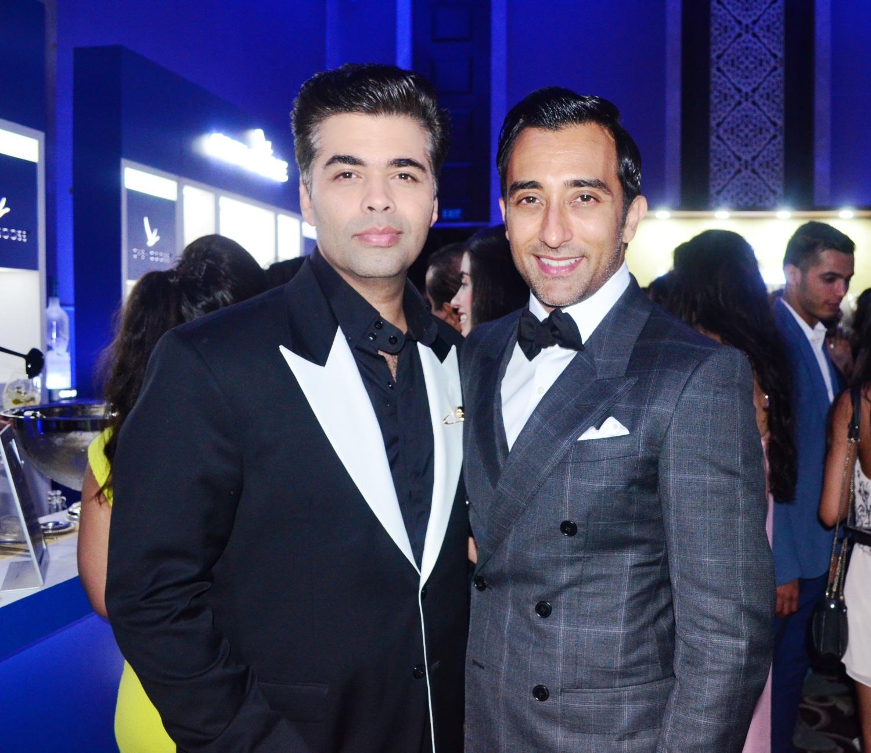 Karan Johar with Rahul Khanna at the GQ Best Dressed Men 2014