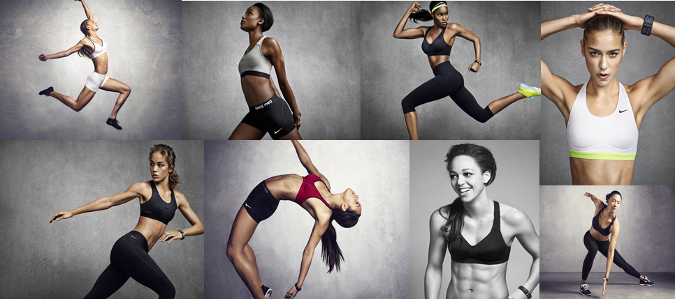 Nike Pro Bra Collection, an innovative line of sports bras designed for the body in motion to provide the right fit and right support for every female athlete.