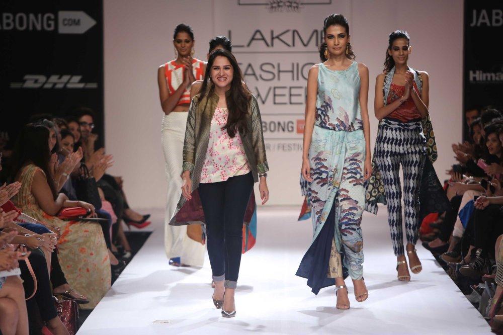Pakistani Designer Sania Maskatiya at LFW 2014