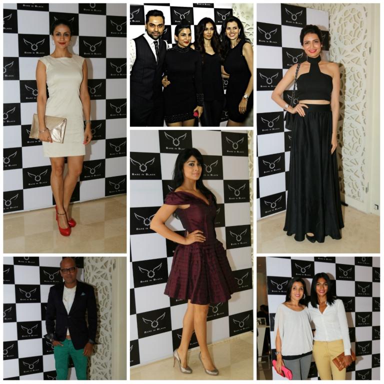 Abhay Deol, Preeti Desai, Namrata Shroff, Rohan Gavaskar, Punit Malhotra, Narender Kumar, Amit Deshmukh, Prince Tulli, Shriya Saran, Devita Saraf, Ashish Raheja, Kadambari Lakhani, Karishma Tanna, Gul Panag, Asif Azim, Nina Manuel, Ram and Sharmilee Shroff, Akiv Ali Guest at Bare in Black Launch Party