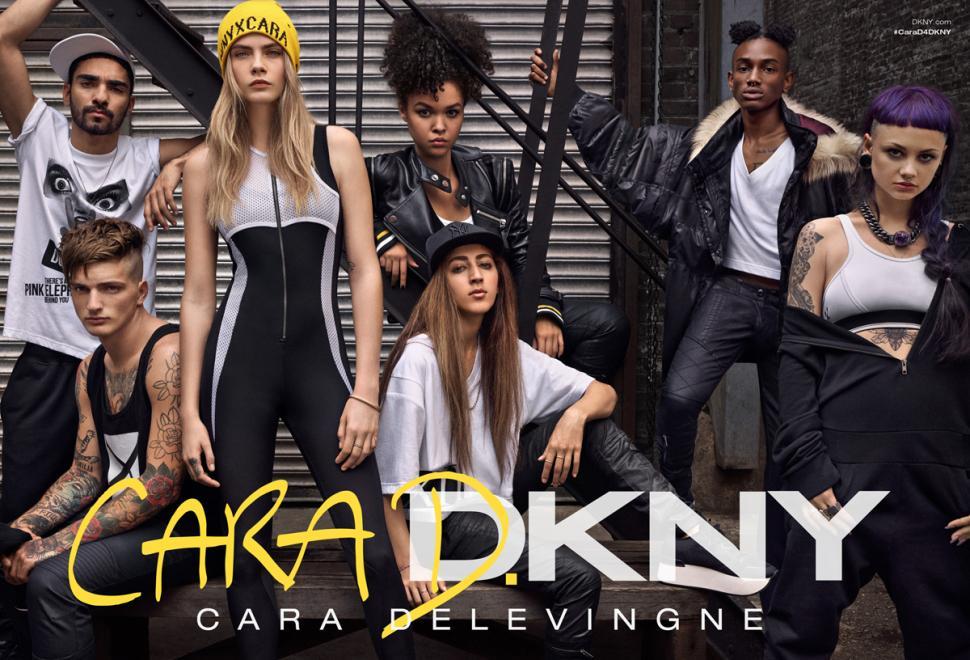 Cara Delevingne for DKNY