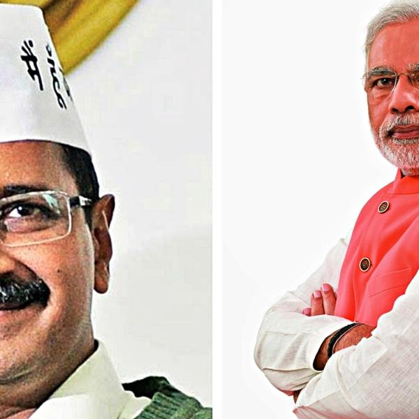 Arvind Kejriwal and Narendra Modi