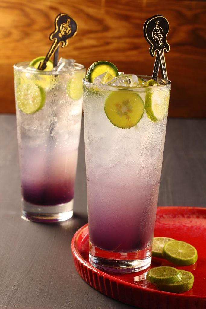 Lavender Ice Tea served at Hard Rock Cafe