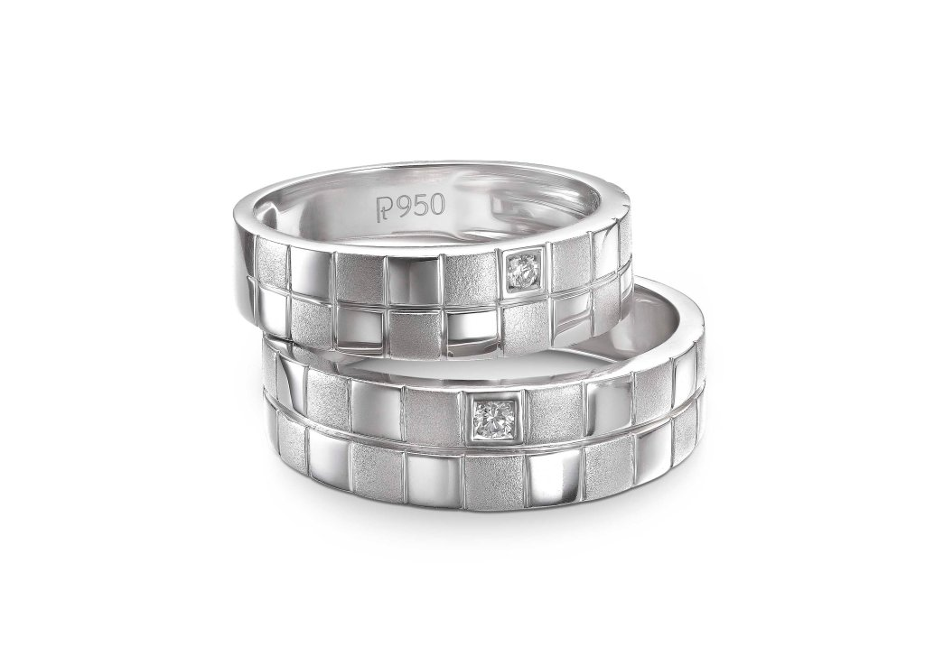 "Platinum Love bands inspired by the design concept of ""Unity of Two"" (2)"