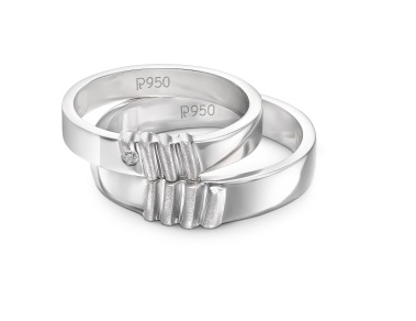 "Platinum Love bands inspired by the design concept of ""Unity of Two"" (3)"